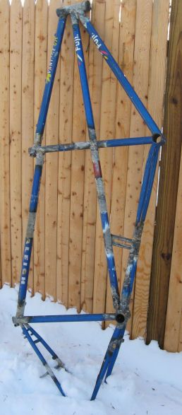 How to refinish a steel bike frame.