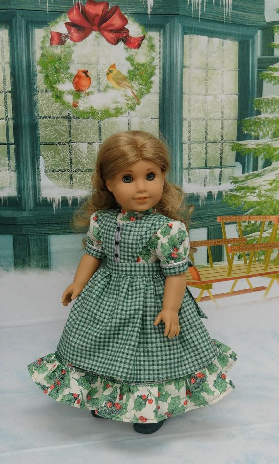 Holly Berry Hills Victorian dress with apron by cupcakecutiepie