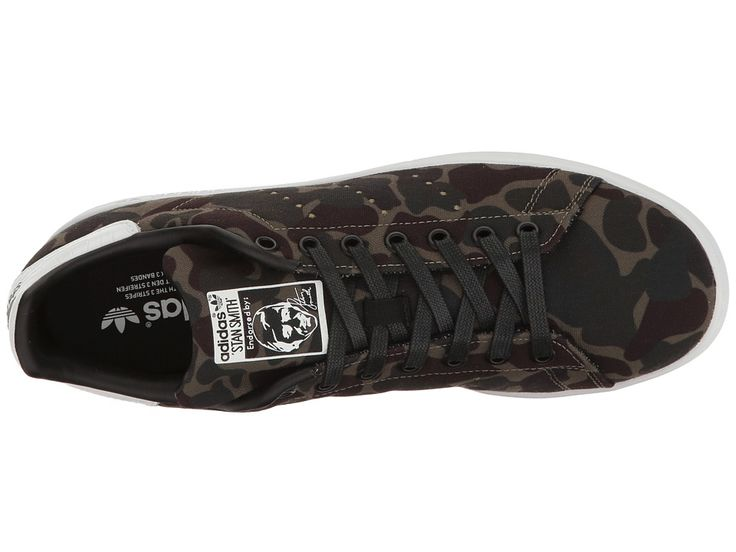 adidas Originals Stan Smith Camo Men\u0027s Tennis Shoes Core Black/Footwear  White/Core Black