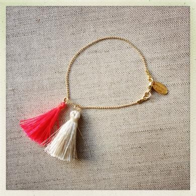 Lola Tassel Bracelet Hot Pink NEW!
