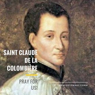 The 15th of February is the feast day of Saint Claude de la Clombiere. He is the patron saint of the devotion to the Sacred Heart of Jesus. Read more at http://www.gotomary.com/2018/02/saint-claude-de-la-colombiere.html #saint #saints #saintoftheday #catholic #catholicsaint #catholicsaints