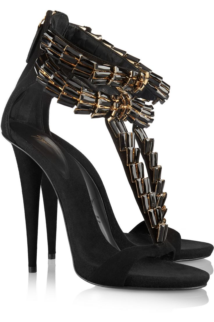 Crystal-embellished suede sandals | Giuseppe Zanotti | US | THE OUTNET