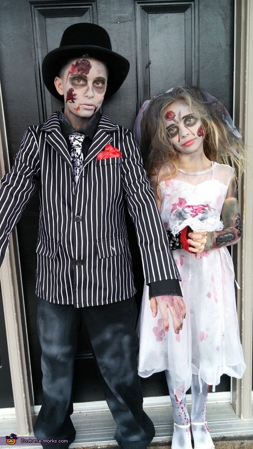 Tammy: My children Connor and Sydney are wearing the costumes. Sydney was the one that came up with the idea. The clothes were all purchased separately from second hand storesand then...