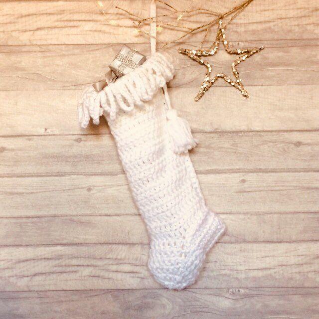 Holiday Stocking Hand Knit Christmas Stocking Personalised Christmas Decoration Chunky Knit Stocking Christmas
