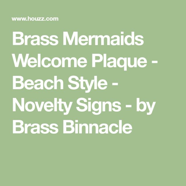 Brass Mermaids Welcome Plaque - Beach Style - Novelty Signs - by Brass Binnacle