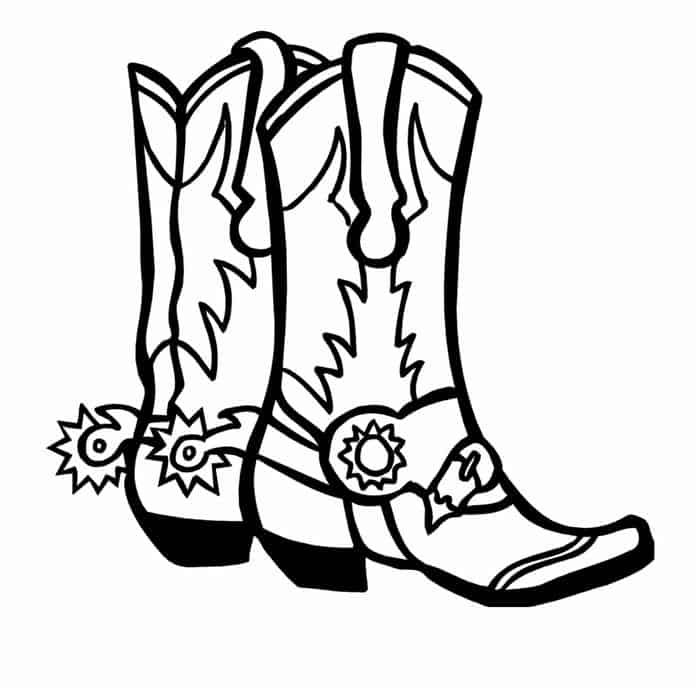 Cowboy Boot Coloring Pages In 2020 Western Clip Art Cowboy Boots Drawing Coloring Pages
