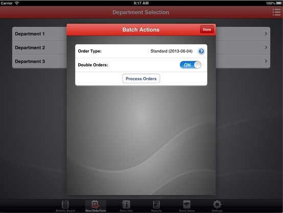 Making use of Modal Dialogs for iOS on iPads