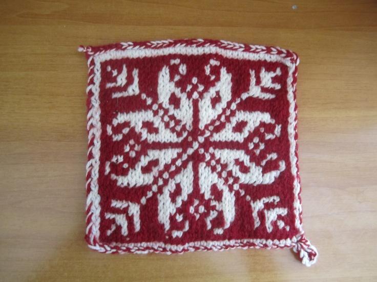 Fancy Knit Potholder Pattern Photo - Easy Scarf Knitting Patterns ...
