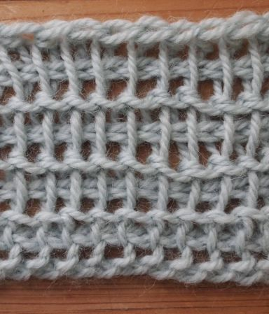 A stretchy, lacy cast on for Tunisian crochet (and knitting); I'm calling it the foundation cast-on.