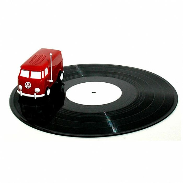 Soundwagon Portable Record Player (miniature record player in the form of a Volkswagen van that plays records at 33rpm from self contained speaker) (limited edition cherry red version) at Juno Records