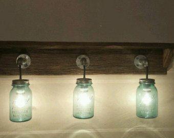Rustieke schuur hout mason jar Kaarsenbakjes. door Thesalvagednail