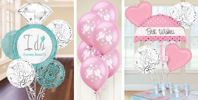 bridal shower balloons party city wedding pinterest With party city wedding shower