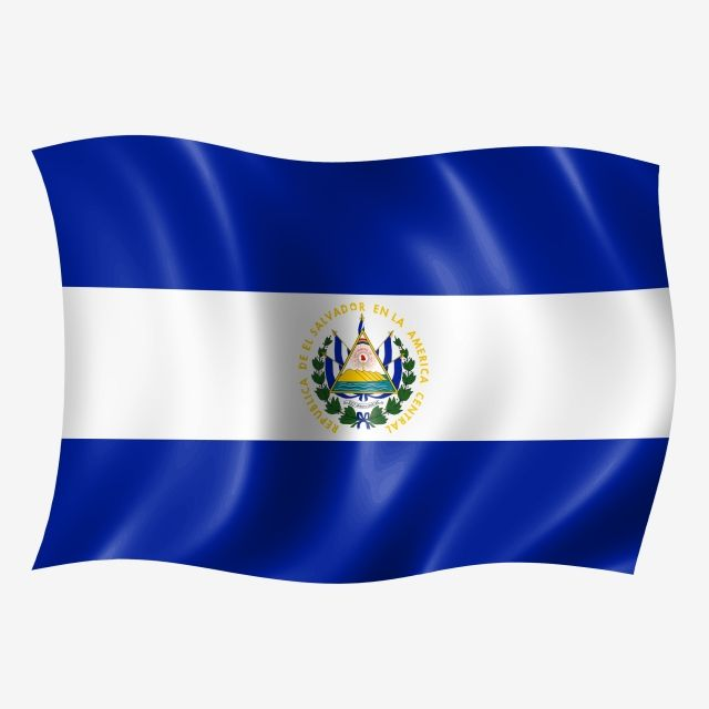 El Salvador Waving Flag Graphic Design Background Templates Flag El Salvador