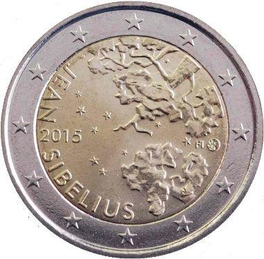"""Moneta Commemorativa """"150° anniv. nascita di Jean Sibelius"""" Anno: 2015 Stato: Finlandia"""
