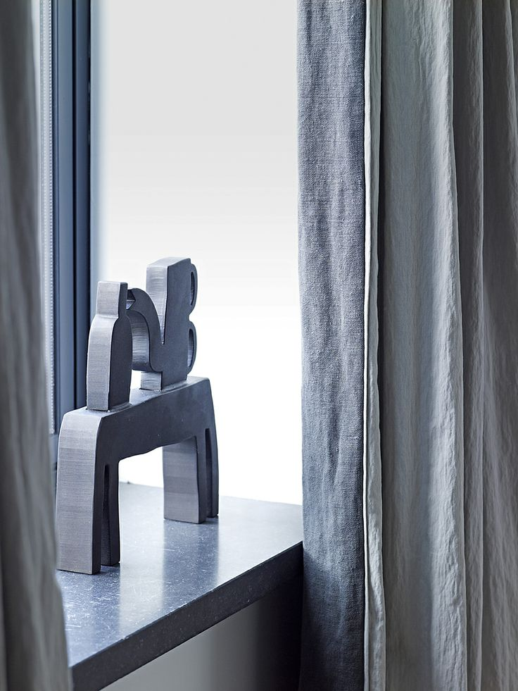 Piet Boon Styling by Karin Meyn   Art in Living room, with delicate chosen curtains from our styling team.