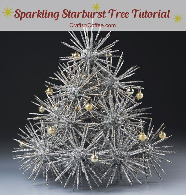 Totally retro, and really cool! Tutorial for this Sparkling Starburst Tree is on CraftsnCoffee.com.