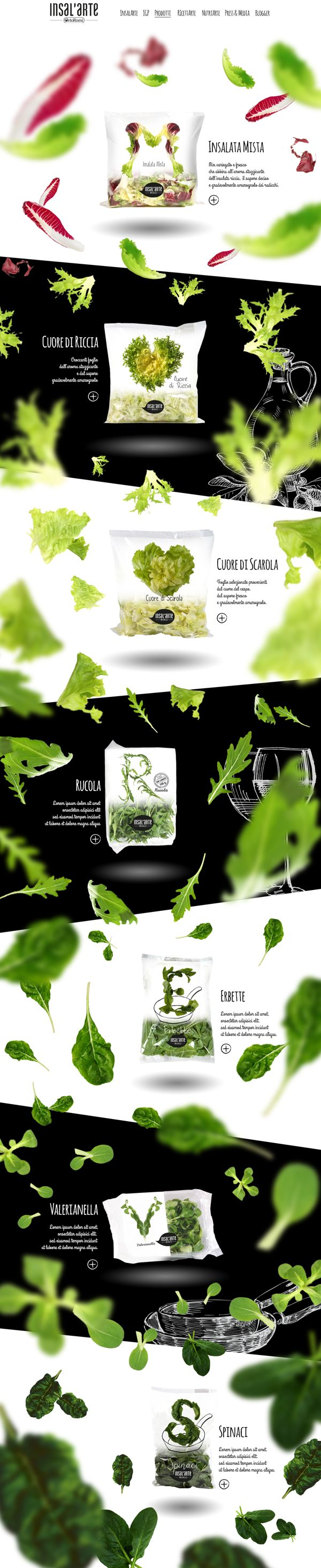 Ortoromi. The art of salad. #webdesign #design #salad