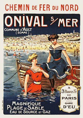 Onival Sur Mer, France c.1905  http://www.vintagevenus.com.au/vintage/reprints/info/TV609.htm
