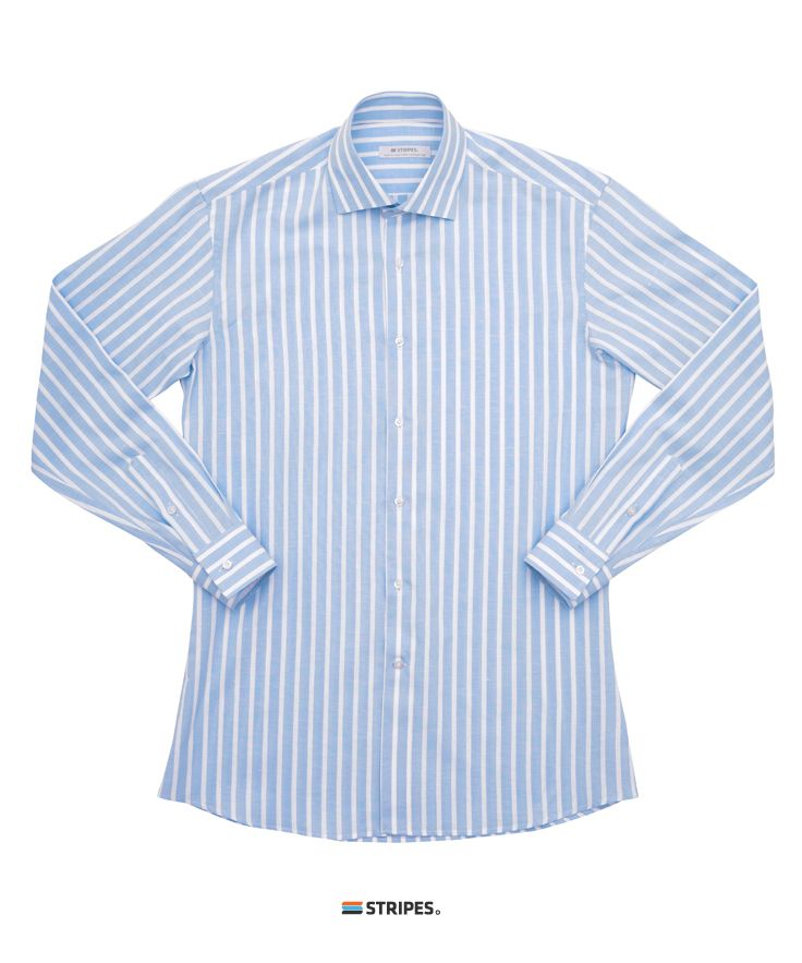 SHIRT. LINEN PASTEL CANDY STRIPE