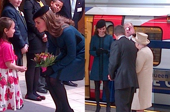 Duchess Kate: Kate Joins The Queen and Prince Philip on Visit to Baker Street Station