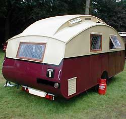 old caravan from UK