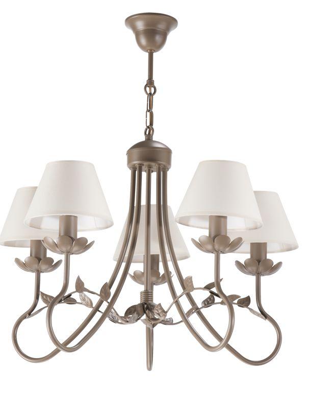 Lampa wisząca EDYTA 5  w stylu romantycznym dostępna na naszej stronie www.przystojnelampy.pl   #lampa #wisząca #lamp #lamps #lampy #oświetlenie # lampa z abażurem #abażur #styl romantyczny #romantic #romantyczny