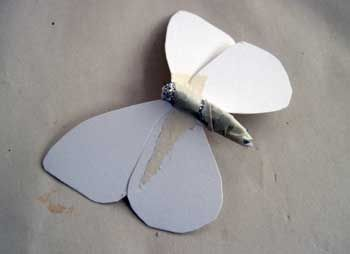 Make a Delicate Butterfly with Paper Mache Clay