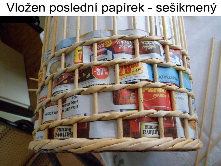 Pletení z papíru - Fotoalbum - Návody - Vzdušný košík