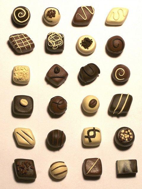Polymer clay chocolates - Picmia