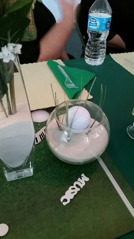 Golf Themed Table Decoration