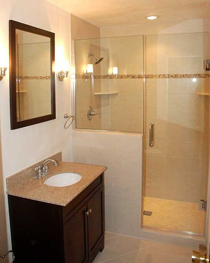 bathroom remodel with walk-in shower