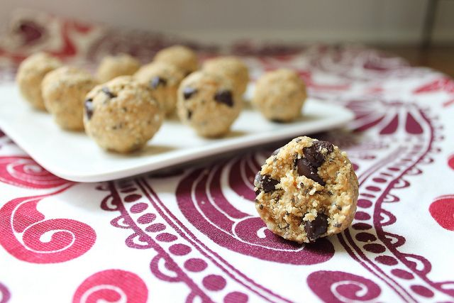 Almond Butter Cookie Dough Balls | Mmmm mmm good! | Pinterest