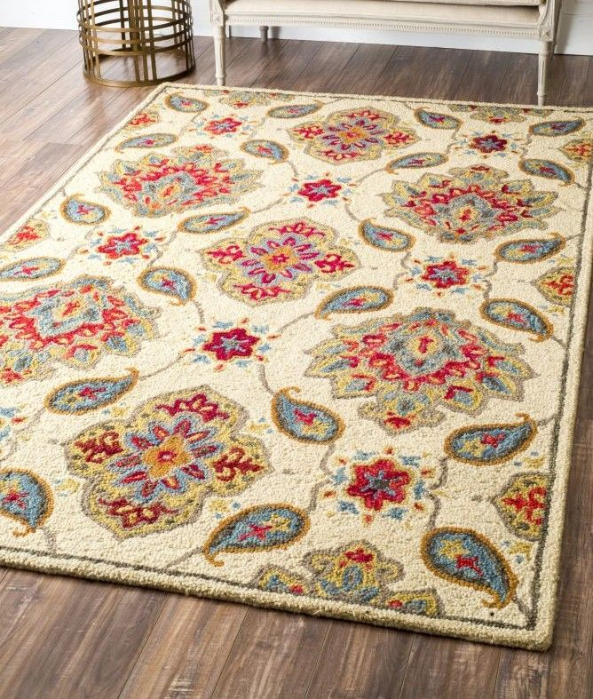 Briseno Hand Looped Ivory Area Rug