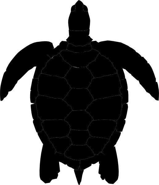 silhouette | turtle black silhouette clip art