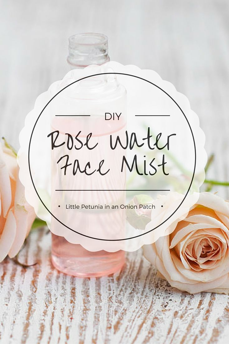 Super simple DIY tutorial for fresh + light rose water face mist