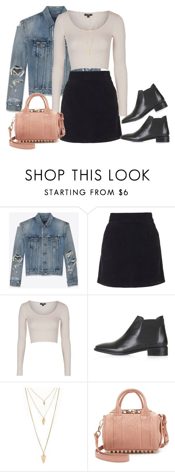 """Untitled #372"" by charlotte-down on Polyvore featuring Yves Saint Laurent, Topshop, Forever 21 and Alexander Wang"