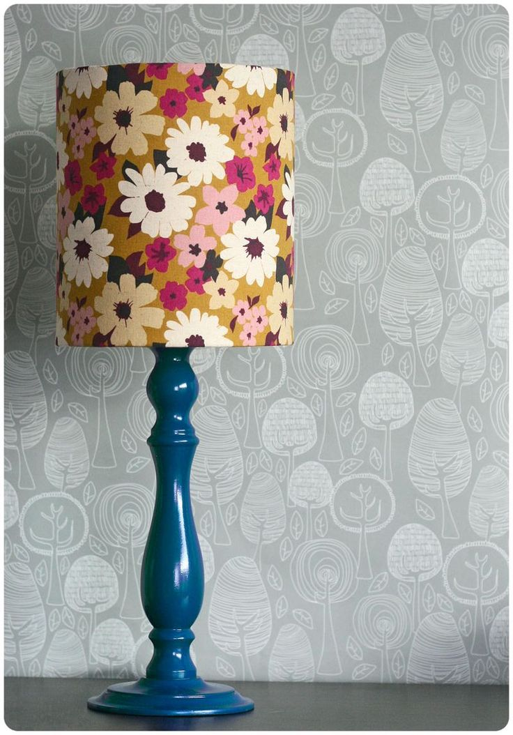 Lamp DIY -- from Ginger & George.  The floral shade wouldn't go with our decor, but I like the technique.