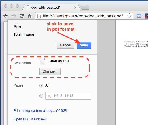 How to remove password from pdf using Chrome - InfoHeap