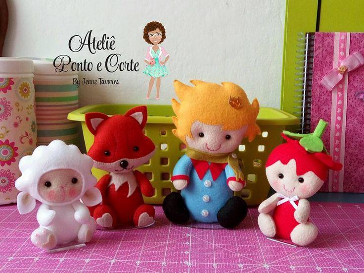 Moldes Pequeno Príncipe - Molde do Personagem Pequeno Príncipe e raposa para você salvar e confeccionar lindos enfeites de feltro!