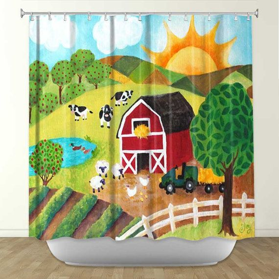 With This Fun Farm Themed Shower Curtain You Can Rest Assured That Your  Friends Wonu0027