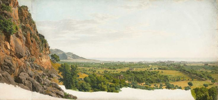 """giovanni battista lusieri - """"panorama of palermo and the conca d'oro from monreale"""", watercolor, gouache, graphite, and pen and ink on paper, n.d."""