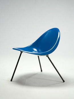 Poul Kjærholm, 'Aluminum Tripod Chair (blue), 2007 edition produced in Denmark by Sean Kelly Gallery and R 20th Century,' 1953/2007, R & Company