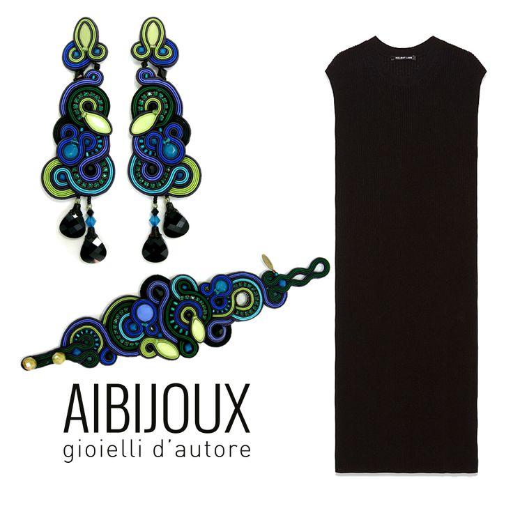 Orecchini e bracciale Dori Csengeri Abito Helmut Lang #AIBIJOUX #DoriCsengeri #outfits #fashionjewelry #ilnostrooutfit