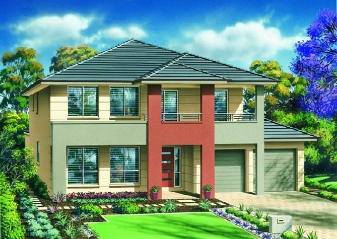Masterton home designs santorini executive rhs facade for Masterton home designs