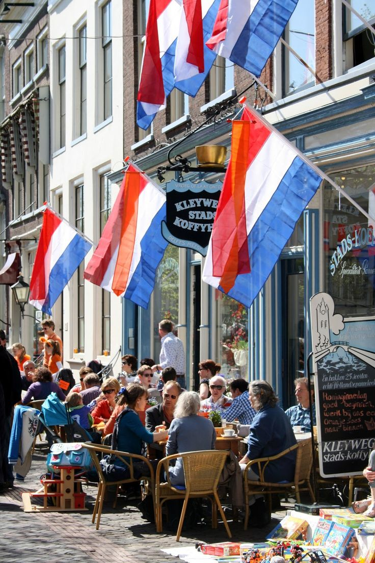 "The most celebrated Holiday in the entire country: ""Koninginnedag"" (Queen's Day) all across Holland....April 30th."