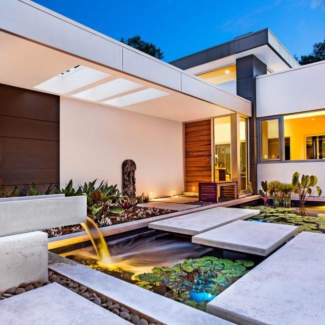 Windows Overlook Modern Courtyard