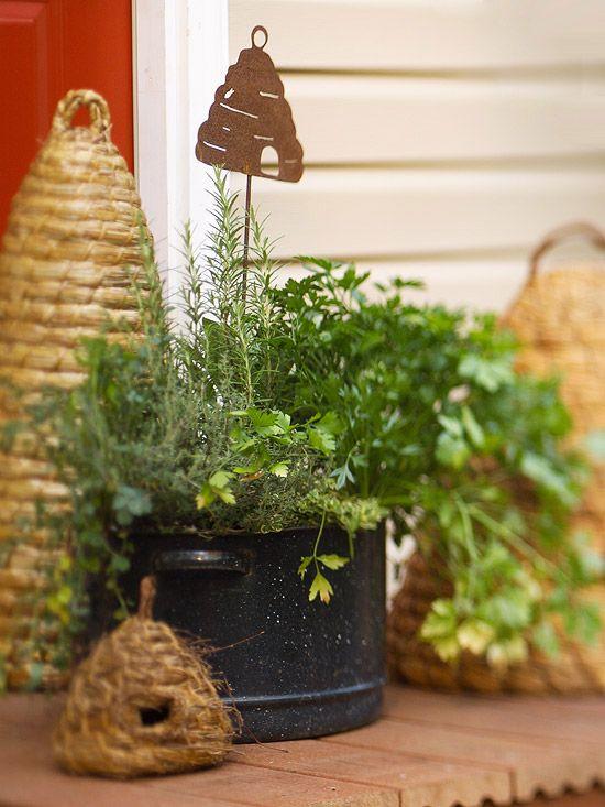 35 Herb Container Gardens ~ Pots U0026 Planters {Saturday Inspiration U0026 Ideas
