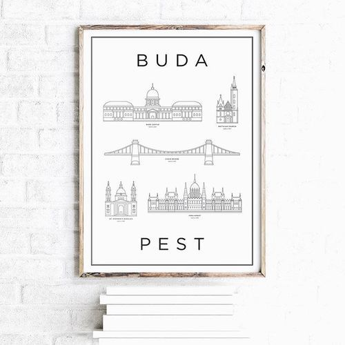 Black, Wooden, Brown, White frame? Any kind of frame works with Monument! #hellomonument #chainbridge #thisisbudapest #homeinterior #poster #parliament #budacastle