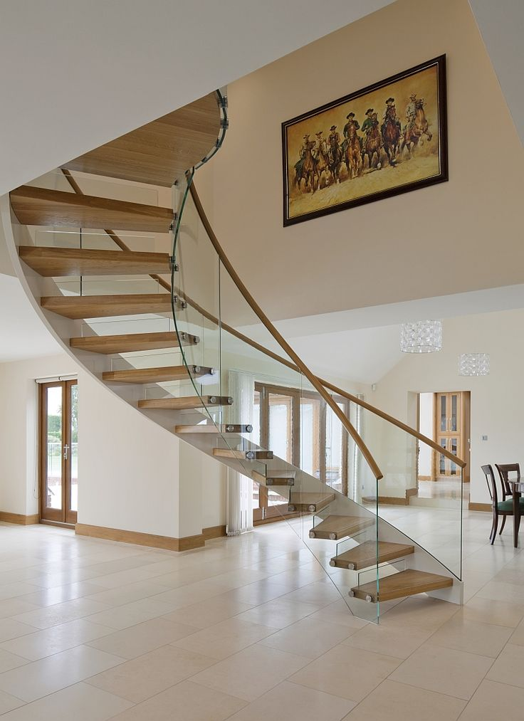 Glass balustrade on helical staircase awesome
