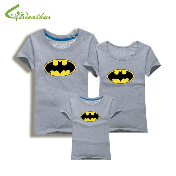 Family Look Batman T Shirts Summer Family Matching Clothes Father Mother Kids Cartoon Outfits New Cotton Tees Free Drop Shipping
